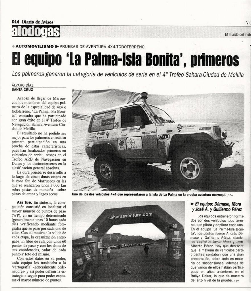 Diario de Avisos pag1-